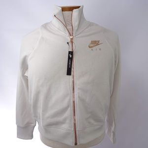 Nike Air Kids Turtle Neck Jacket White